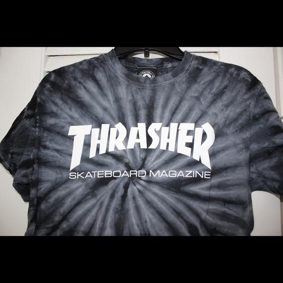 72f55e7217c8 Thrasher Magazine Grey Tie-Dye T-Shirt Skate. M_5acf642c5521beb638b5bd0a